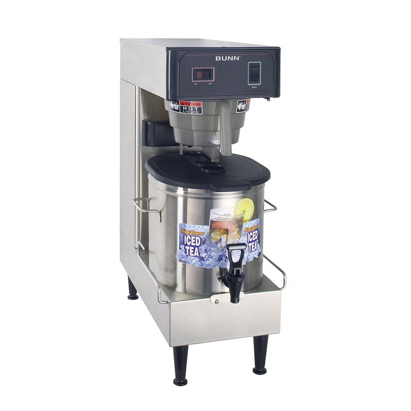 Bunn TB3Q-LP-0100 3-Gal Automatic Low Profile Iced Tea Brewer, Dispenser, 120 V (36700.0100)