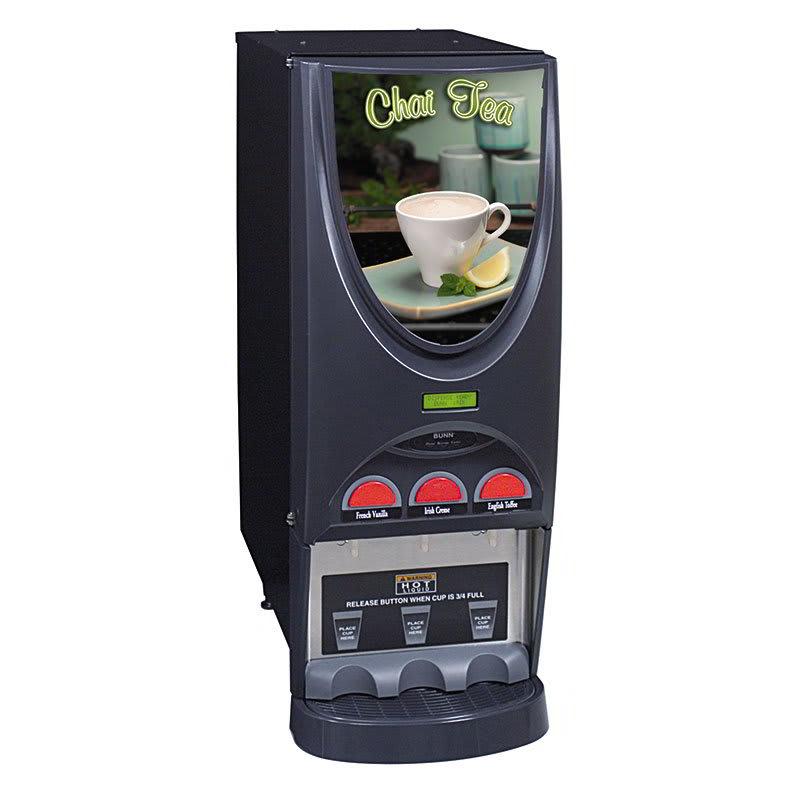 Bunn iMIX-3 Hot Drink Dispenser, 3 Hoppers, Specialty Display, Black (36900.0005)