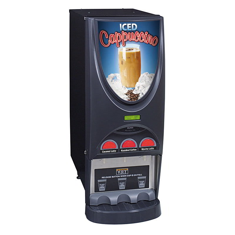 Bunn IMIX-3-0026 Hot Beverage Dispenser w/ (3) 8-lb Hoppers & 4.5-gal Hot Water Tank, Iced Coffee (36900.0026)