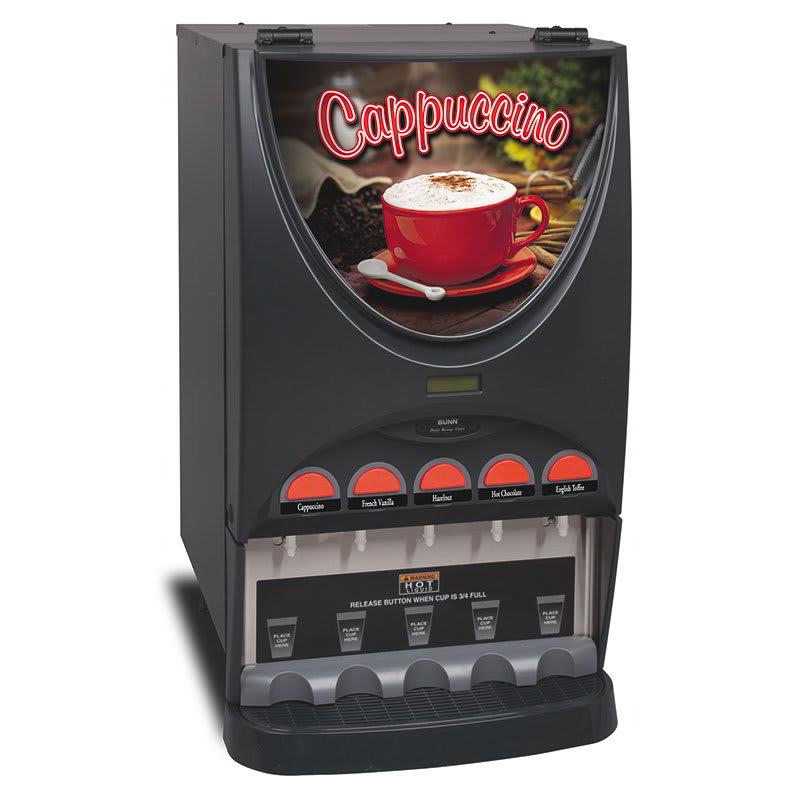Bunn iMIX-5 Hot Beverage Dispenser w/ (5) 8-lb Hoppers, 4.5-gal Tank & Hot Water Dispense (37000.0020)