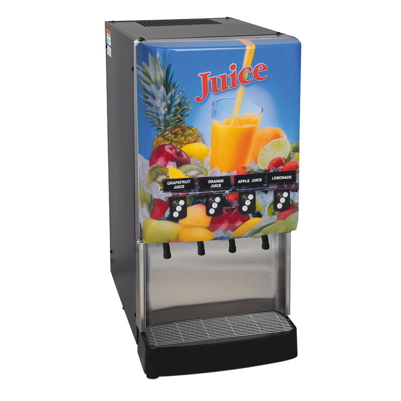 Bunn JDF-4S 4 Flavor Cold Beverage System, Portion Control, Juice Display, 120v (37300.0023)