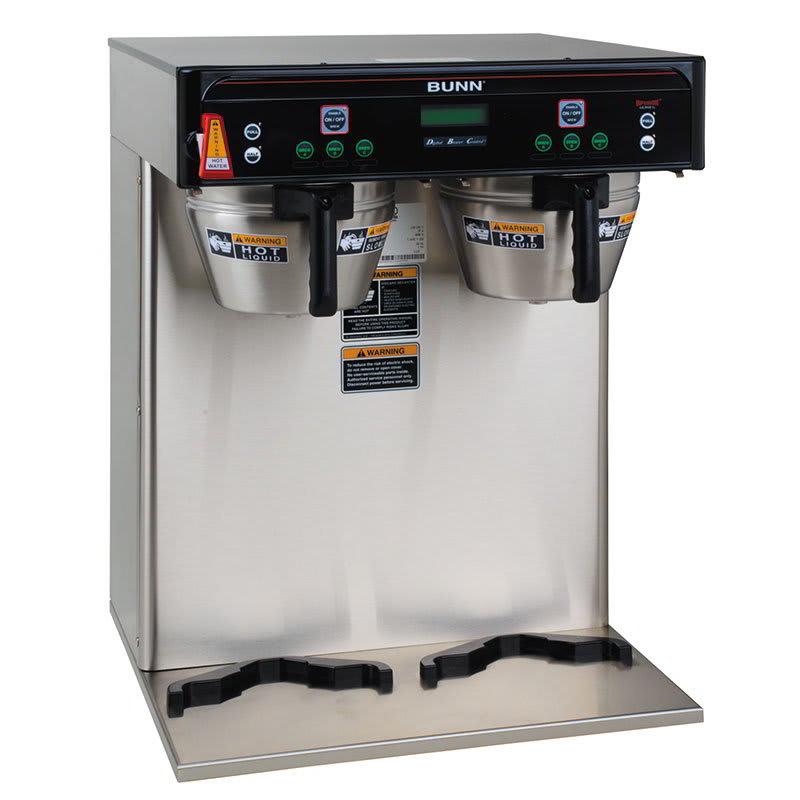 Bunn ICB-TWIN-0002 5.6-Gallon Twin Coffee Brewer, English/Spanish Display, 120-208v/1ph (37600.0002)