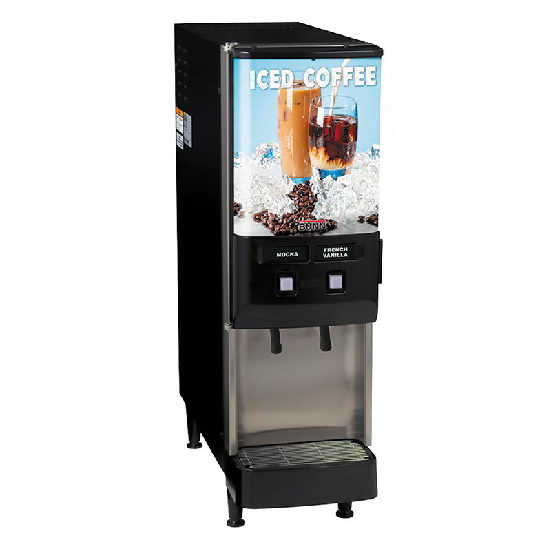 Bunn JDF-2S-0002 2-Flavor Beverage System, Iced Coffee Display, 120v (37900.0002)