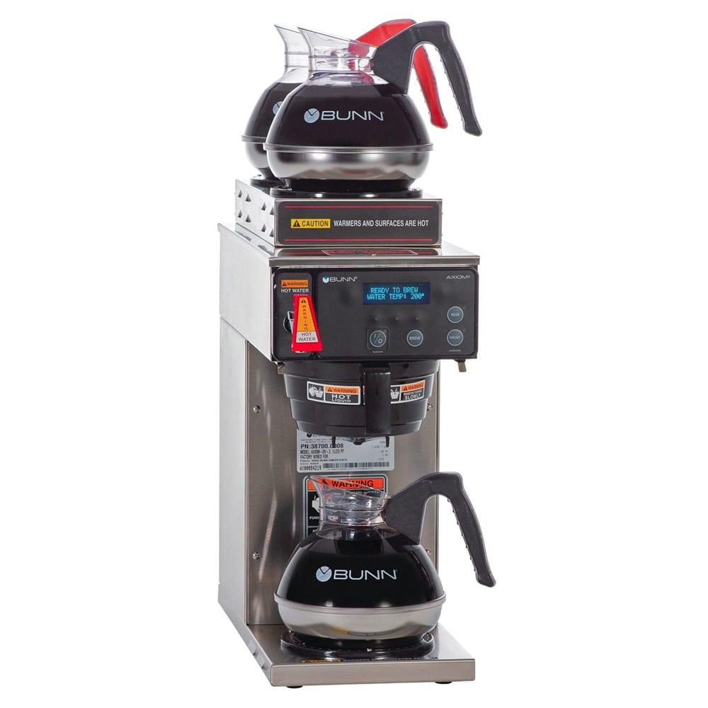 Bunn AXIOM-DV-3-0008 AXIOM-DV-3 Automatic Brewer, 2 Upper & 1 Lower Warmers, Dual Voltage (38700.0008)