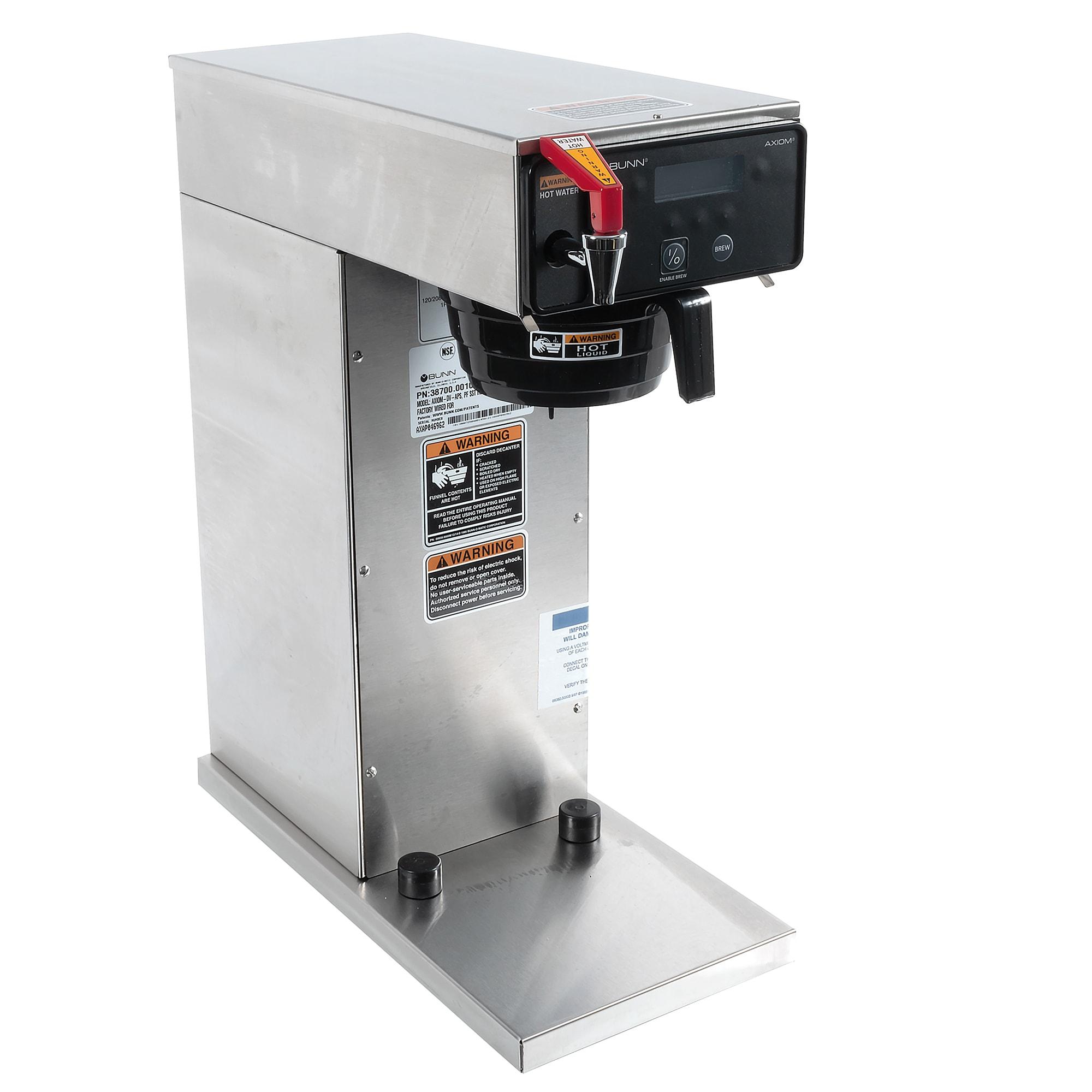 Bunn AXIOM-DV-APS Airpot Coffee Brewer w/ 200 oz Capacity Tank, Automatic, 120 240v/1ph (38700.0010)