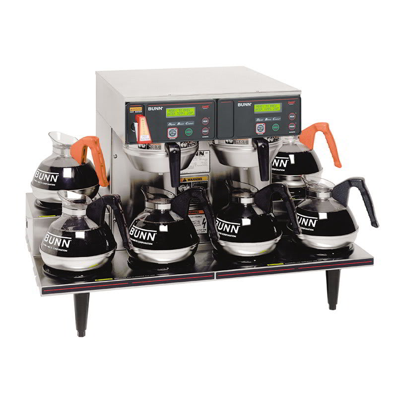 Bunn AXIOM-0/6-0015 AXIOM Twin Automatic Coffee Brewer, 6 Lower Warmers, 208-240v/1ph (38700.0015)