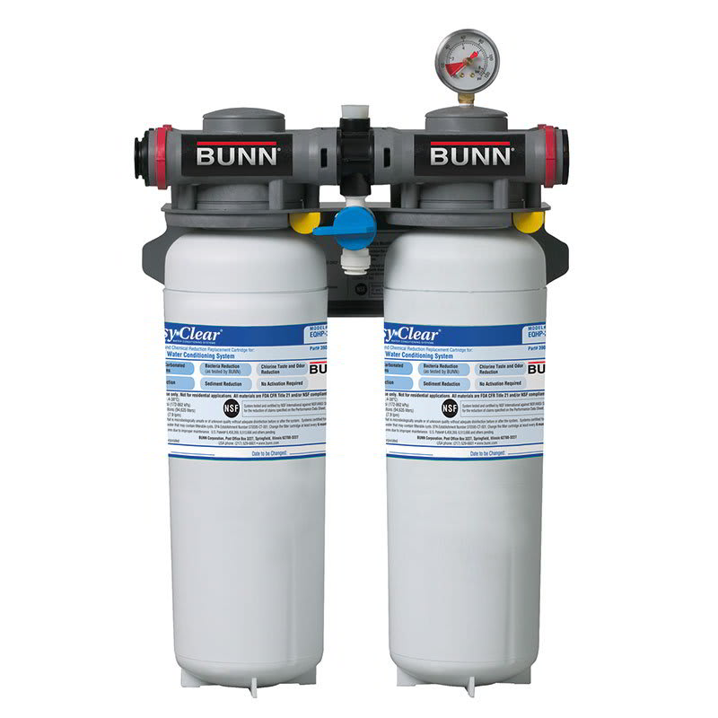 Bunn EQHP-TWIN70-0012 High Performance Water System, 2 Cartridges, Built-In Pressure Gauge (39000.0012)