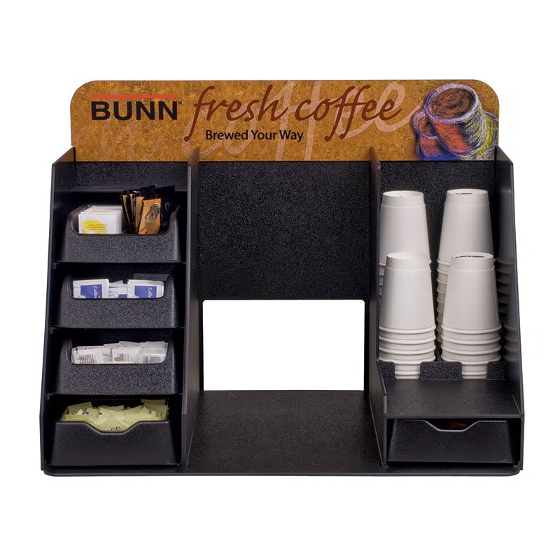 Bunn AUTOPOD-STA-0001 Merchandiser Rack, 4 Pull-Out Drawers, Cup Placement, Graphics Header (39501.0001)