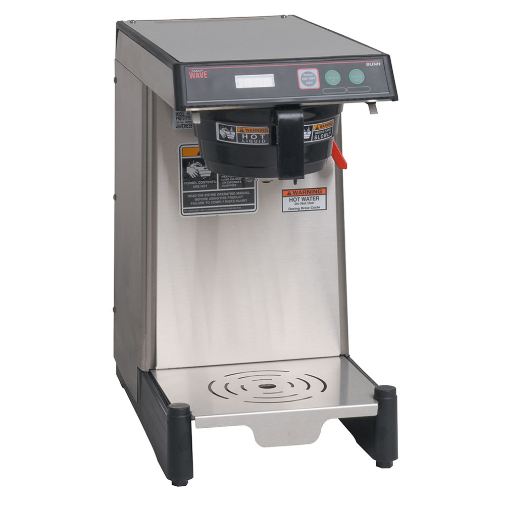 Bunn WAVE-15-0005 WAVE15-APS SmartWave Low Profile Wide Base Coffee Brewer, Digital, 120 V (39900.0005)