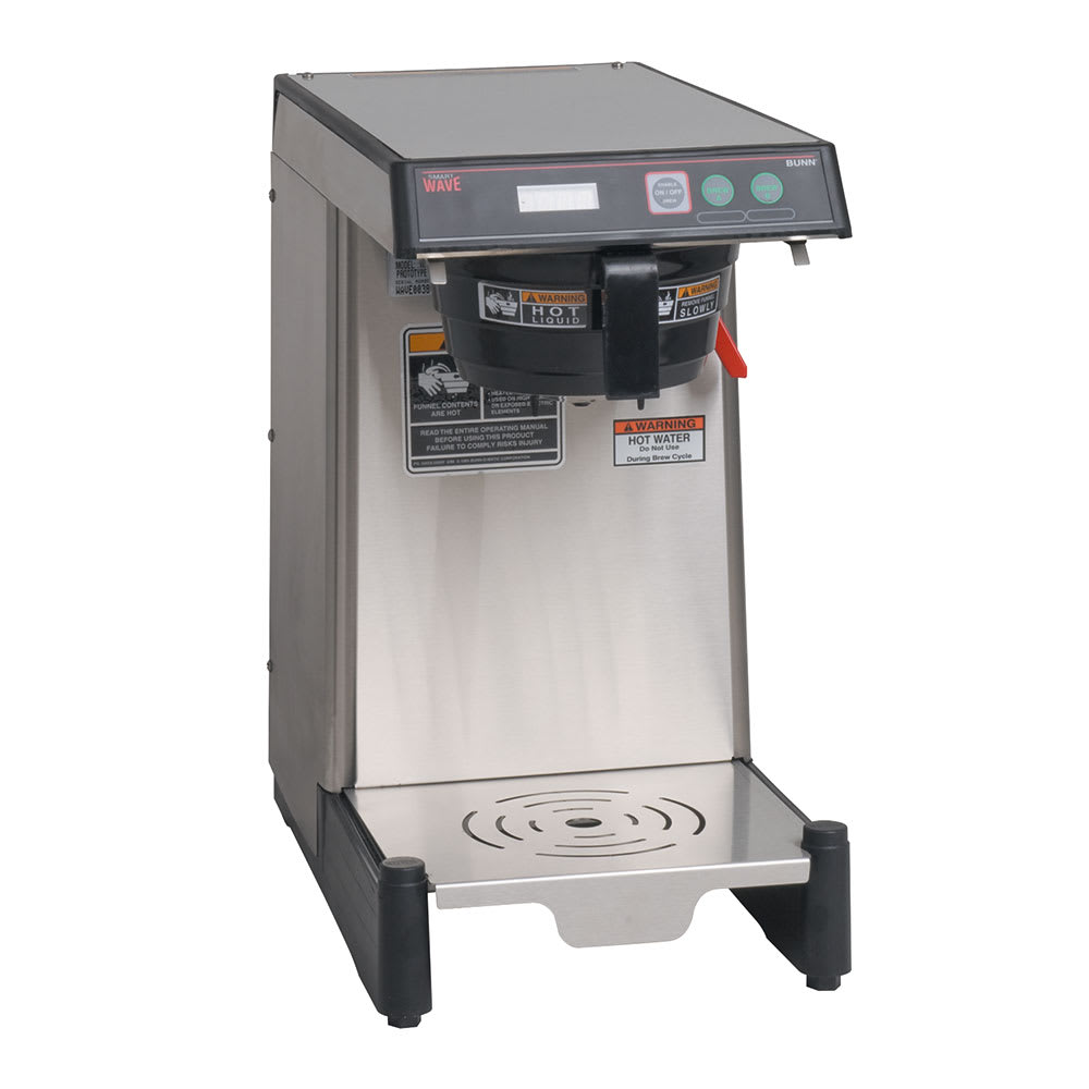 Bunn WAVE-15-0008 WAVE-APS SmartWave Low Profile Wide Base Coffee Brewer, 120-240v/1ph (39900.0008)