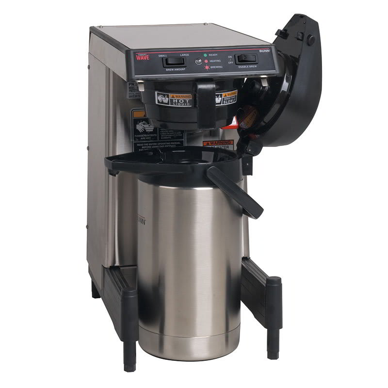 Bunn WAVE15-APS WAVE15 APS SmartWave Low Profile Wide Base Coffee Brewer, 120 240v/1ph (39900.0009)