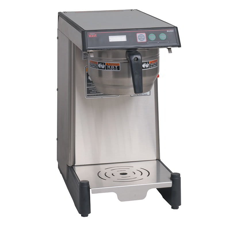 Bunn WAVE-15-0013 Airpot Coffee Brewer, Low Profile w/ 3.9-gal in 1-hr & LED Read Out (39900.0013)