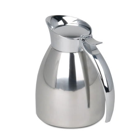 Bunn 40400.0001 10.1 oz Vacuum Insulated Pitcher, Holds Hot Or Cold Liquids, Stainless (40400.0001)