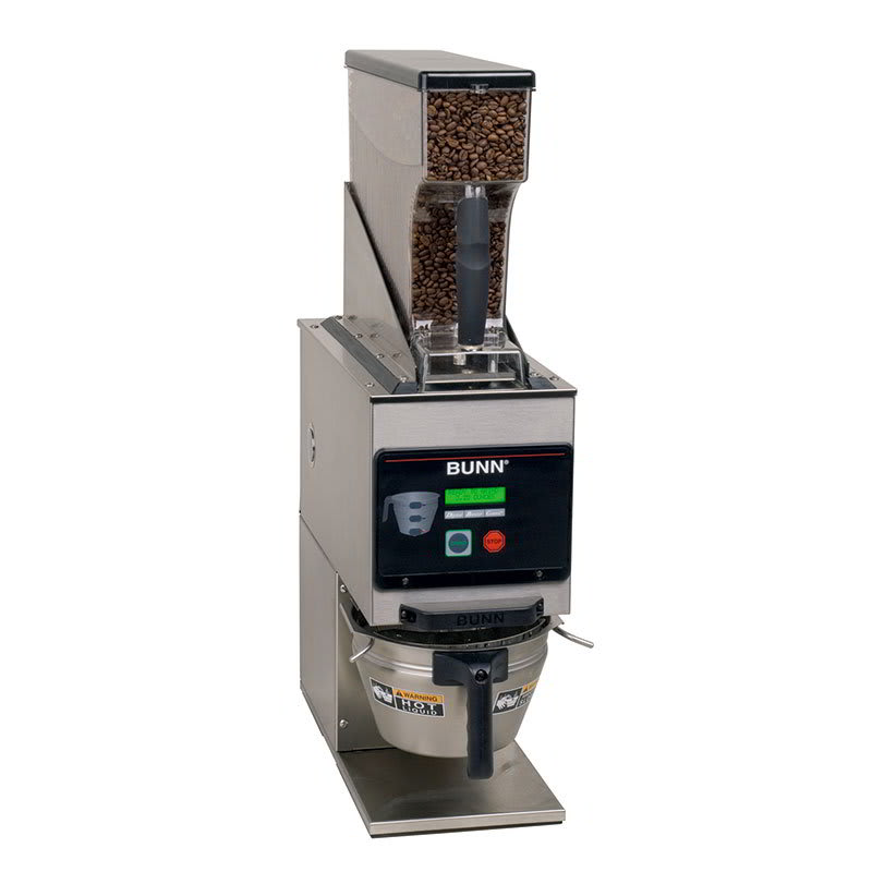 Bunn G9WD-RH-0001 6 lb Hopper Coffee Grinder, LCD Display, Portion Controlled, Stainless, 120 V (40700.0001)