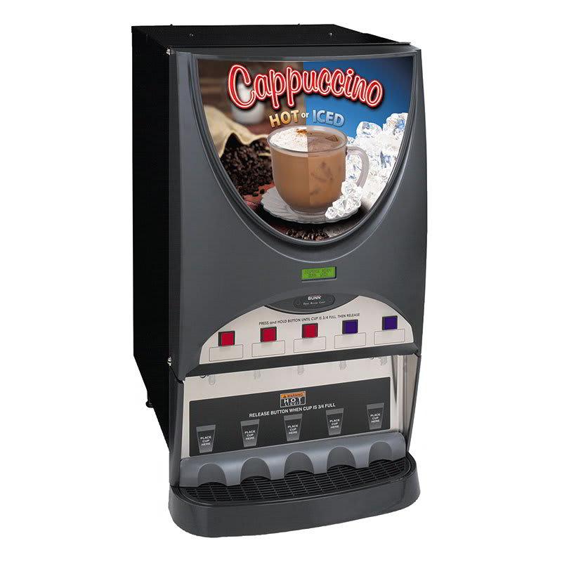 Bunn IMIX-5S-HI-0050 Hot & Iced Drink Dispenser, (5) 8-lb Hoppers, 4.5-gal in 1-Hr, Silver (40900.0050)