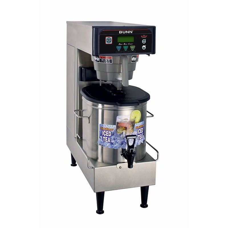 Bunn ITB-LP-0004 Low Profile Iced Tea Brewer w/ 3-gal Single Brewer & 3-Recipe Buttons (41400.0004)