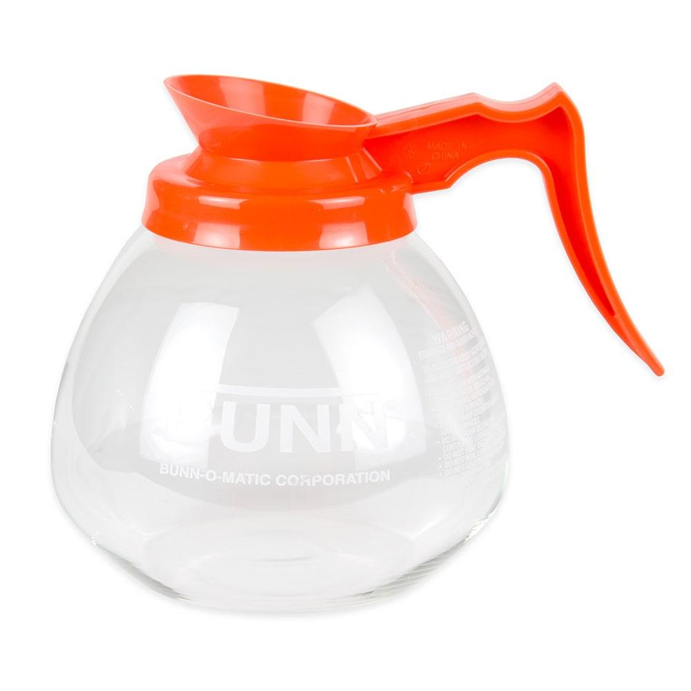 Bunn GD-O-1-0101 Glass Coffee Decanter, Decaf, Orange Pourer/Handle (42401.0101)