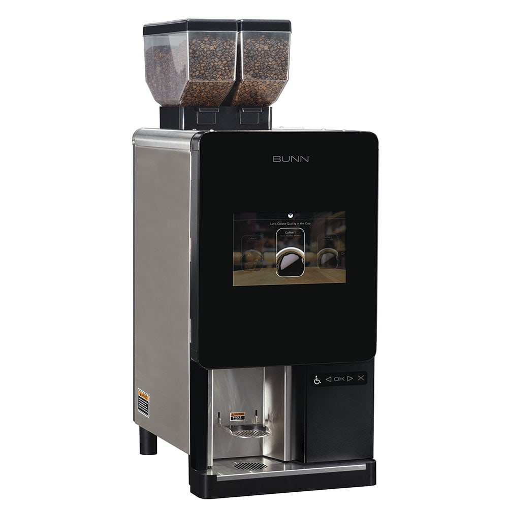 Bunn 44400.0100 Sure Immersion™ Bean to Cup Coffee Brewer w/ (2) 3 lb Hoppers & (2) Grinders, 120v (44400.0100)