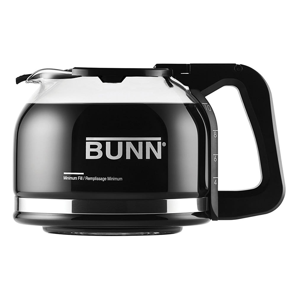 Bunn 49715.0000 10-Cup Coffee Decanter w/ Black Handle - Glass, Clear (49715.0000)