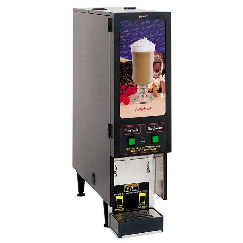 Bunn FMD-2 BLK Powdered Beverage Dispenser, (2) 4 lb Hoppers, 120v (SET00.0207)