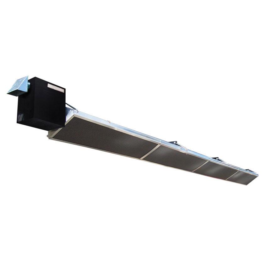 Berner BPD-ET4560NS Compact Heater - 45,000-60,000-BTU, 15' Reflector, Stainless, Natural Gas