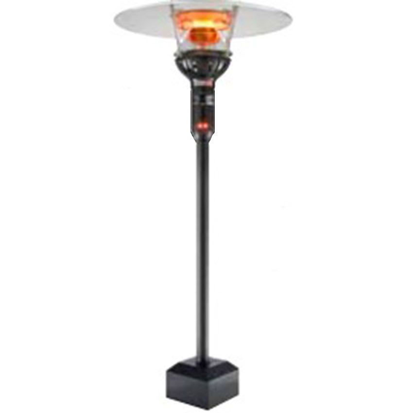 "Berner BPP-E301NUB Floor Mount Heater - 46,000-53,000-BTU, 63"" Pole, Black, Natural Gas"