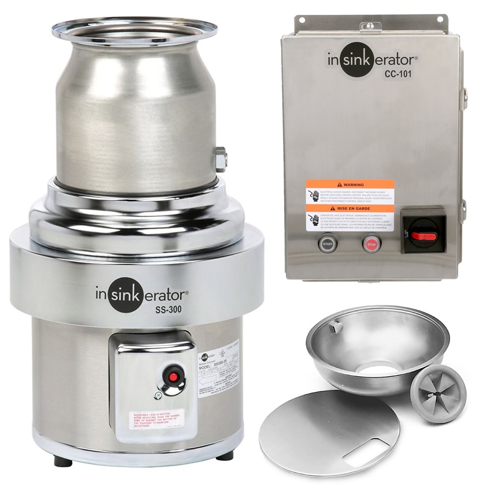 InSinkErator S-300-18A-CC101 2083 Disposer Pack w/ 18 in Bowl & Cover, CC101 Panel, 3 HP, 208/3 V