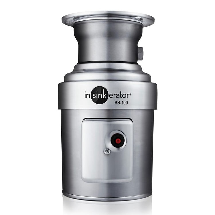 InSinkErator SS-100 Disposer, Basic Unit Only, 1 HP, Stainless, Includes Mounting Bracket, 115v