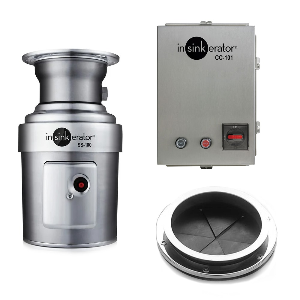 InSinkErator SS-100-6-CC101 2083 Disposer Package w/ #6 Adaptor & CC101 Panel, 1 HP, 208/3 V