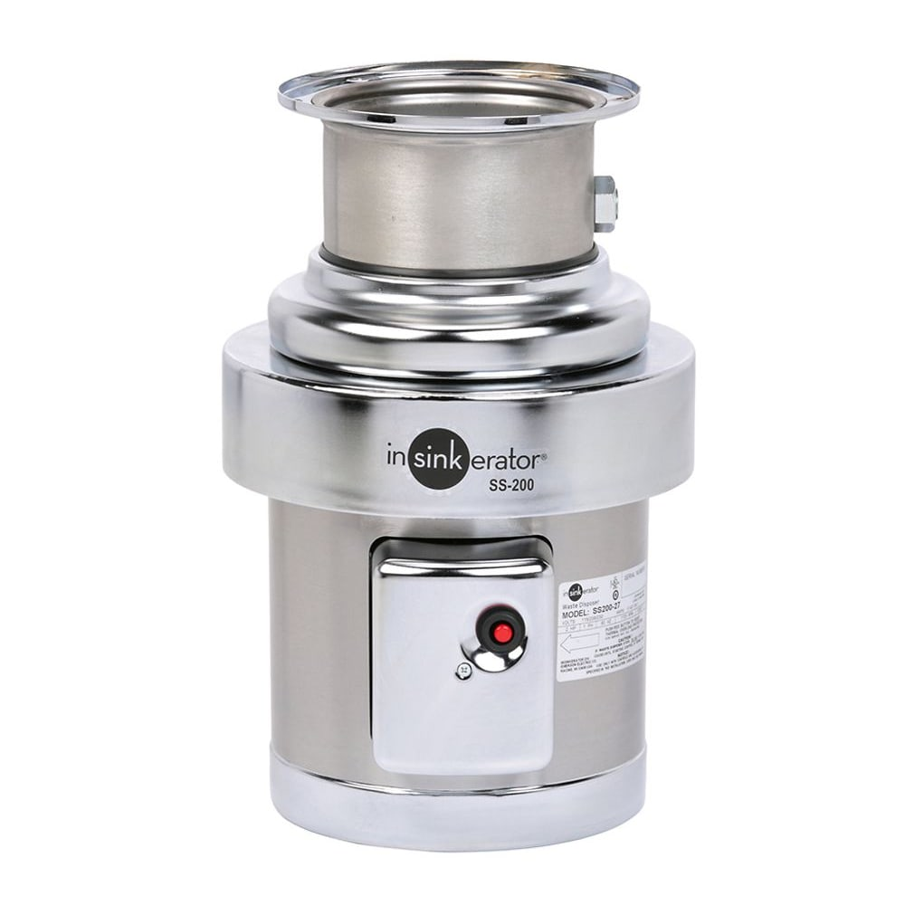 InSinkErator SS-200 Disposer, Basic Unit Only, Stainless, 2 HP, 208v/1ph