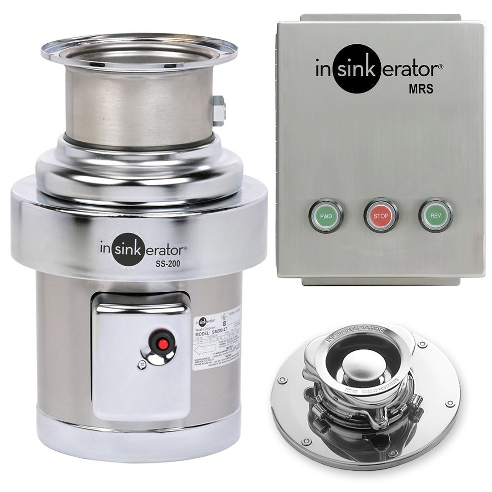 InSinkErator SS-200-5-MRS 2301 Disposer Pack w/ #5-Adapter & Manual Reverse Switch, 2-HP, 230/1 V