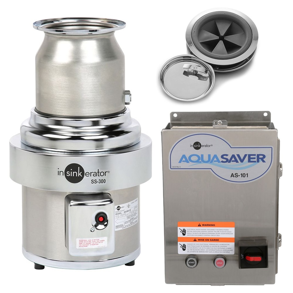 InSinkErator SS-200-7-AS101 2301 Disposer Package w/ #7 Adapter & AS101 on