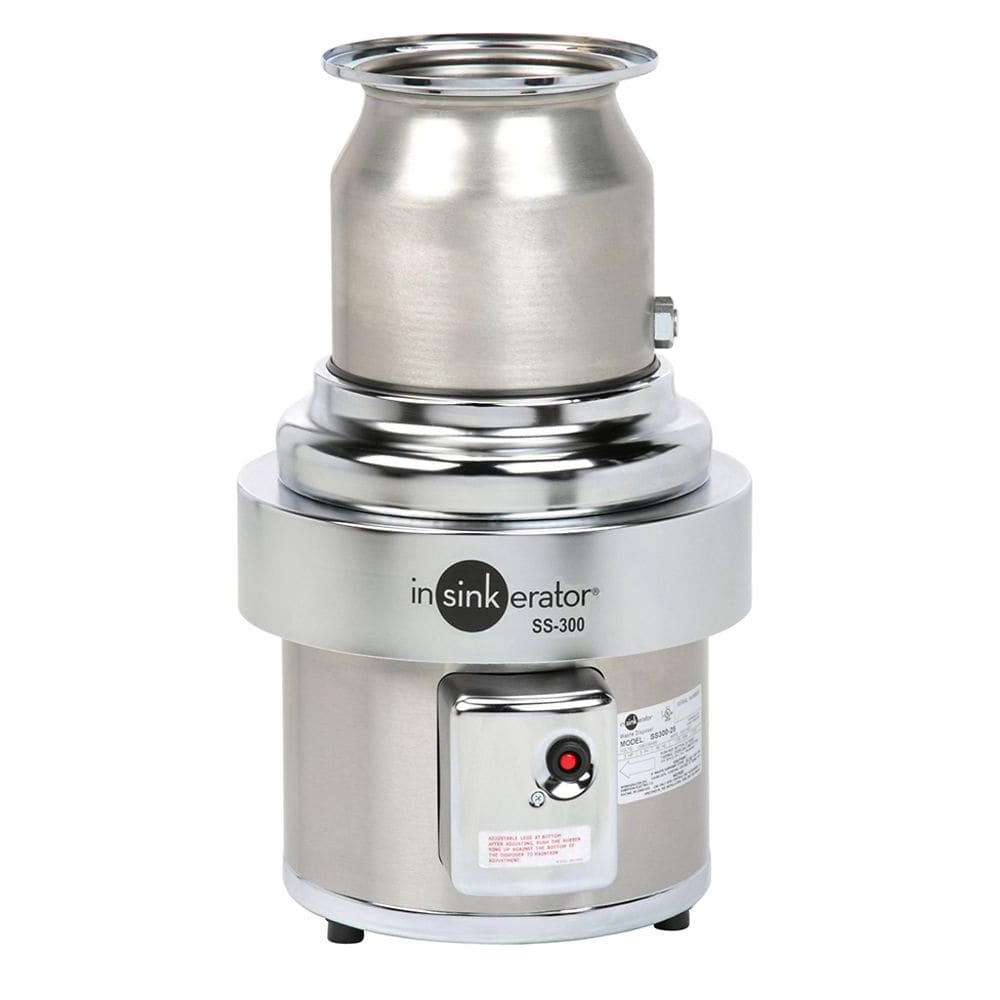 InSinkErator SS-300 Disposer, Basic Unit Only, Stainless, 3 HP, 208v/3ph