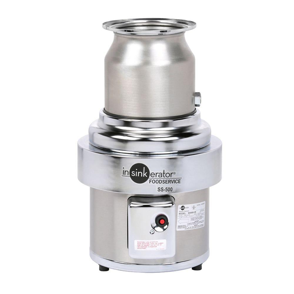 InSinkErator SS-500 Disposer, Basic Unit Only, Stainless5 HP, 208v/3ph