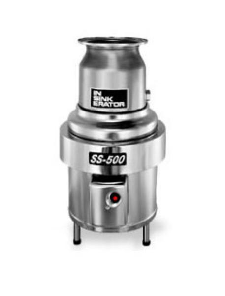 InSinkErator SS-500-6-MS Complete Disposer Package, 5 HP, #6 Adaptor, 208V/3PH
