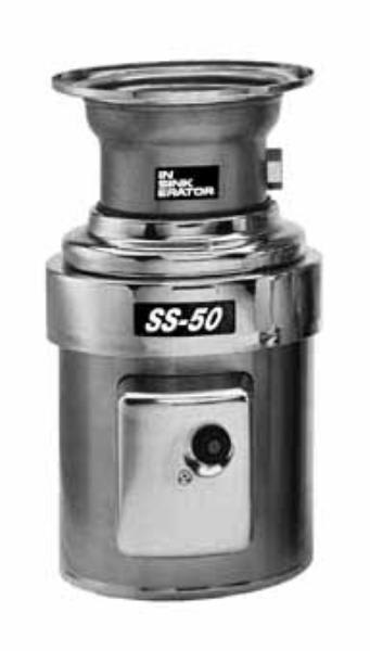 InSinkErator SS-50-7-MS Complete Disposer Package, 1/2 HP, #7 Adaptor, 115V/1PH