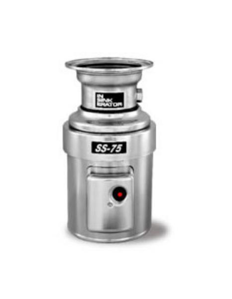 InSinkErator SS-75 Disposer, Basic Unit Only, S/S, 3/4 HP, 115V/1PH