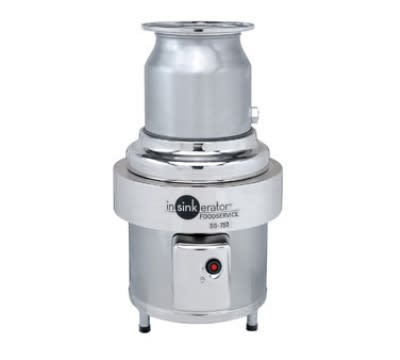 InSinkErator SS-750-6-CC202 230 Disposer Package w/ #6-Adapter & CC202 Panel, 7.5-HP, 230/3 V
