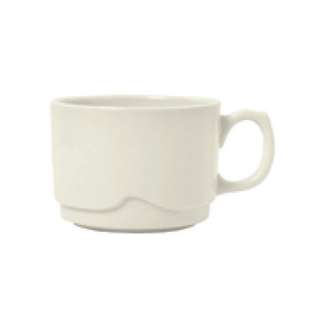Syracuse China 902903004 8-oz Stackable Cup w/ Flint Body, Barista