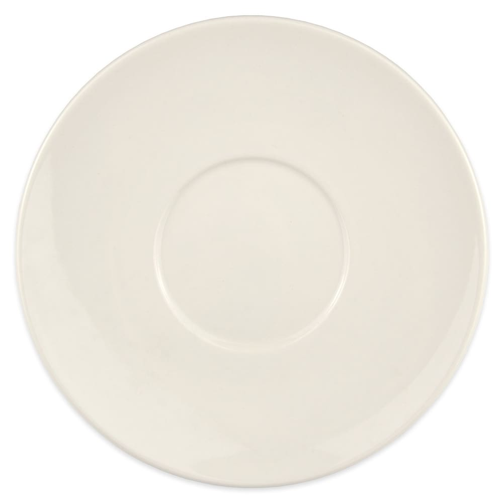 "Syracuse China 902903009 7.62"" Small Stackable Saucer w/ Flint Body & Barista Undecorated"