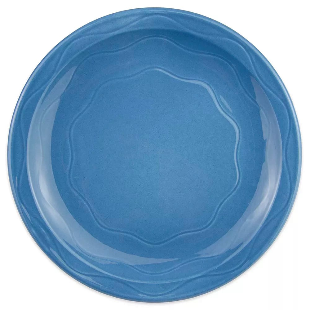 "Syracuse China 903032002 Plate w/ Cantina Carved Pattern & Shape, Flint Body, 11.38"", Blueberry"