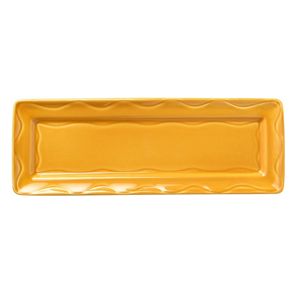 "Syracuse China 903033117 12-3/4"" Cantina Tray - Glazed, Saffron"