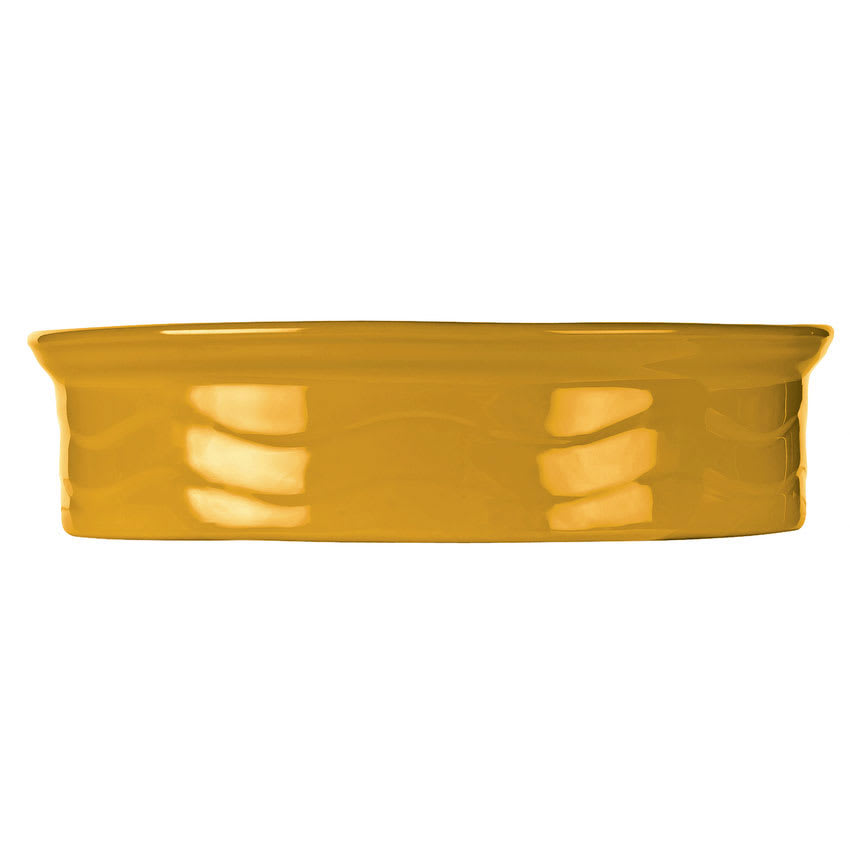 "Syracuse China 903033500 7-1/2"" Cantina Tortilla Warmer - Round, Saffron"