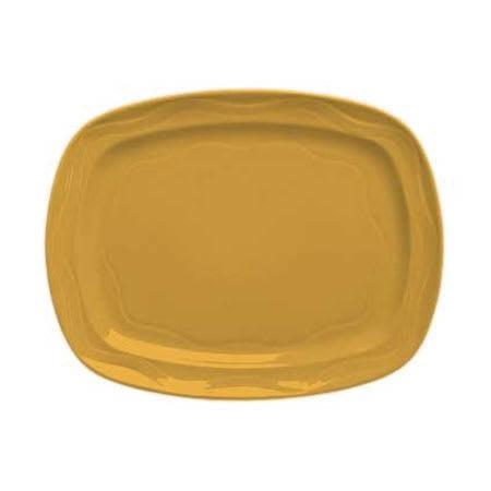 "Syracuse China 903033640 12-1/2"" Cantina Racetrack Platter - Glazed, Saffron"