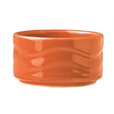 Syracuse China 903034600 2 oz Cantina Bowl - Glazed, Cayenne