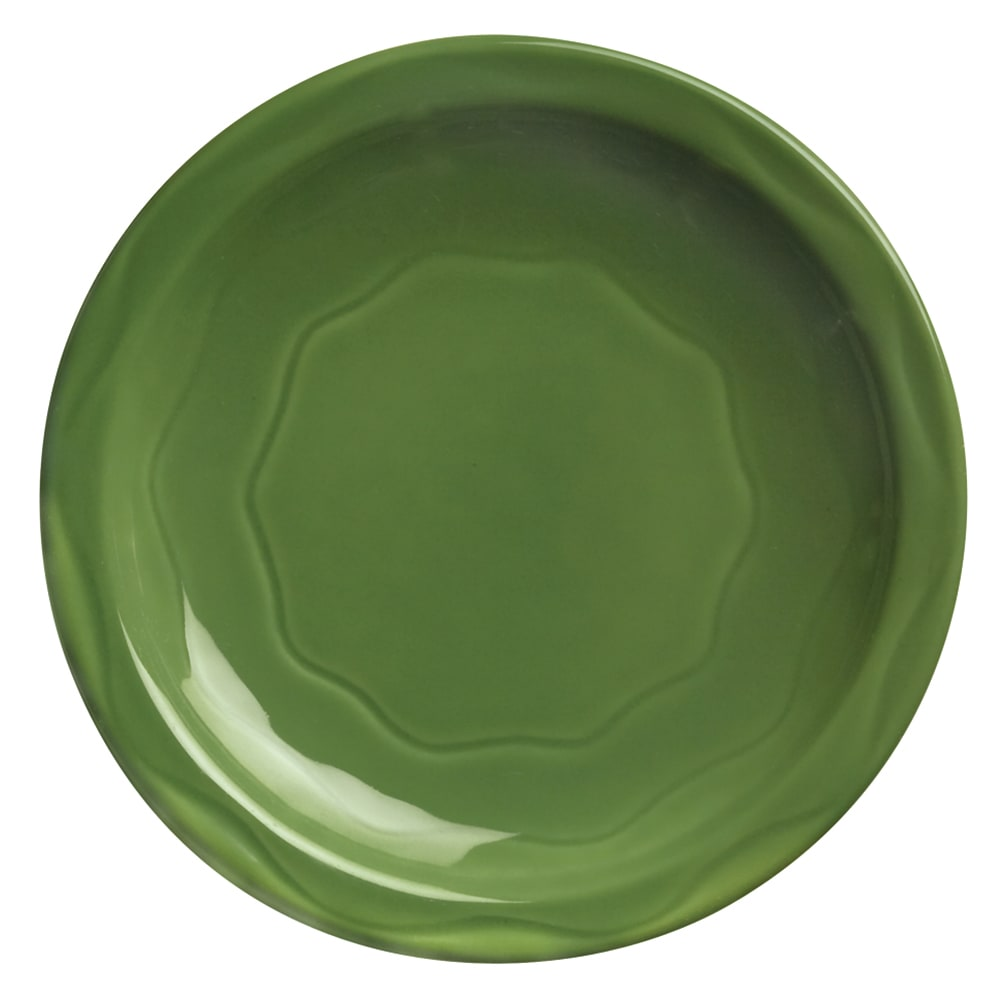 "Syracuse China 903035010 Plate w/ Cantina Carved Pattern & Shape, Flint Body, 9"", Sage"