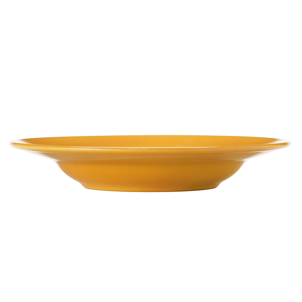 Syracuse China 903044377 21-oz Round Pasta Bowl w/ Rolled Edge & Cantina Uncarved Pattern, Saffron