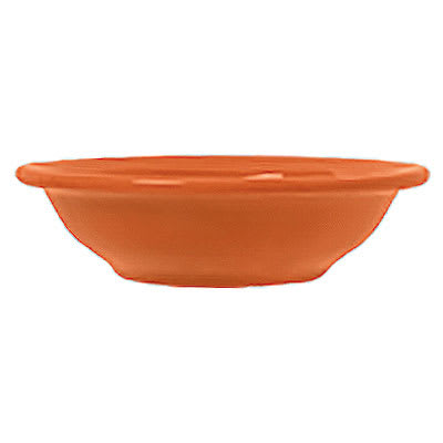 Syracuse China 903045013 5-oz Fruit Dish w/ Cantina Uncarved Pattern & Morwel Shape, Flint, Cayenne