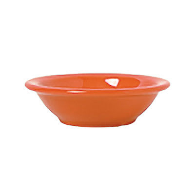 Syracuse China 903045172 4.62-oz Fruit Dish w/ Cantina Uncarved Pattern & Morwel Shape, Flint, Cayenne