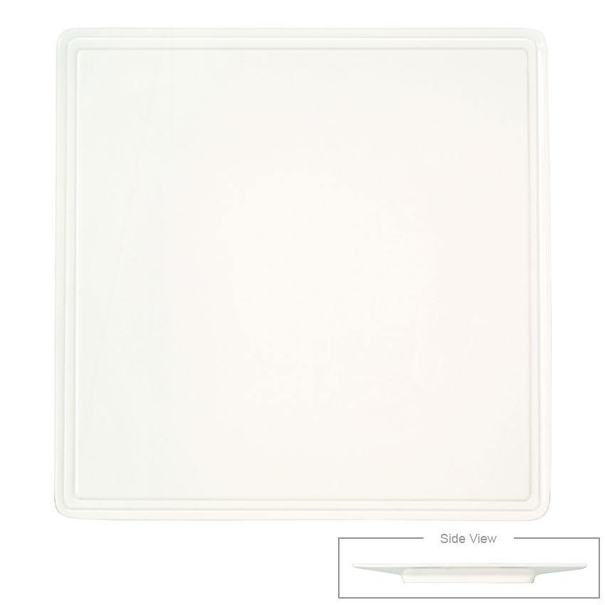 "Syracuse China 905356000 Flat Square Plate, Narrow Rim, Slenda Pattern & Shape, Royal Rideau Body, 5.5"""